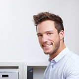 Head shot of happy business man Stock Images