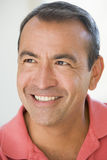 Head shot of man smiling stock photo