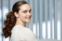 Head shot portrait of woman. Royalty Free Stock Images