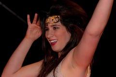 Dancing latin woman portrait profile stock photography