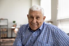 Free Head Shot Portrait Smiling Mature Man Looking At Camera Stock Image - 211827001