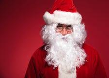 Head shot of santa claus Stock Photo