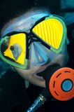 Head shot of scuba diver Royalty Free Stock Image