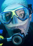 Head shot of scuba diver Royalty Free Stock Photography