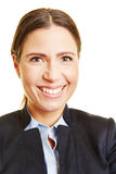 Head shot of smiling business woman Stock Photo