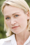 Head shot of woman stock images