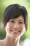 Head shot of woman. Smiling Stock Photos