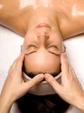 Head and shoulder massage Stock Images