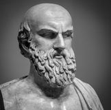 Head and shoulders of the ancient Aischylos bust Royalty Free Stock Images