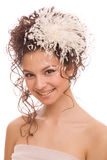 Head And Shoulders of the modern bride Stock Photography