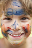 Head And Shoulders Portrait Of Boy With Painted Face Royalty Free Stock Photo