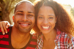 Head And Shoulders Portrait Of Couple On Holiday stock photos
