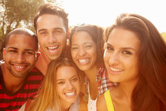 Head And Shoulders Portrait Of Friends On Holiday� Stock Image