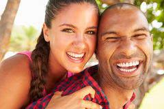 Head And Shoulders Portrait Of Loving Couple Outdoors Royalty Free Stock Photos