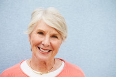 Head and shoulders portrait of senior Caucasian woman Royalty Free Stock Image