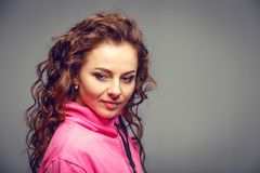 Head and shoulders portrait of young beauty woman Stock Photography
