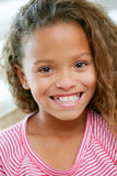 Head And Shoulders Portrait Of Young Girl royalty free stock photography