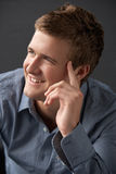 Head And Shoulders Portrait Of Young Man In Studio Royalty Free Stock Photography