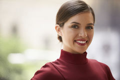 Head and shoulders portrait of young white businesswoman Royalty Free Stock Photo