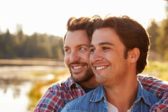 Head And Shoulders Shot Of Romantic Male Gay Couple Stock Photo