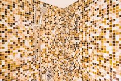 Head shower bath. Decoration in bathroom interior royalty free stock image