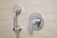 Head of shower in the bathroom close up. Head of shower in the bathroom close up royalty free stock photography