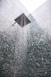 Head shower with water drop. In bathroom interior royalty free stock photos