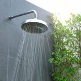 Head shower water stream Stock Photography