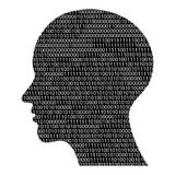 Head silhouette with binary code Royalty Free Stock Images