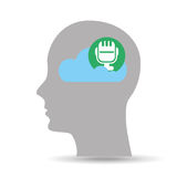Head silhouette cloud microphone music Royalty Free Stock Photography