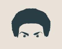 head silhouette för kvinnlig Främre sikt för framsida Fotografering för Bildbyråer