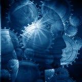 Head silhouette för människa Arkivfoto