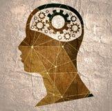 head silhouette vektor illustrationer