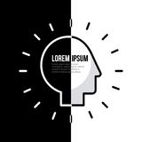 Head silhouette mind. Black and white background head silhouette mind concept image vector illustration design Royalty Free Stock Photos