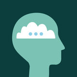 Head silhouette mind. Icon vector illustration design graphic Stock Images