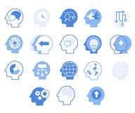 Head Silhouettes Set, Vector Illustration Royalty Free Stock Photography