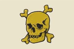 Head skull on graphic illustration royalty free illustration