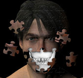 Head and skull puzzle Stock Image