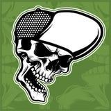 Head skull wearing cap hand drawing vector. Hand drawing,Shirt designs, biker, disk jockey, gentleman, barber and many others vector illustration