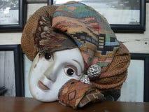 Head skyler bära för gammal dockaframsida Fotografering för Bildbyråer