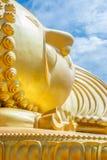 Head of sleeping buddha statue Royalty Free Stock Photos