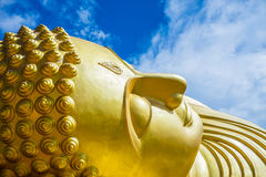 Head of sleeping buddha statue Royalty Free Stock Photos