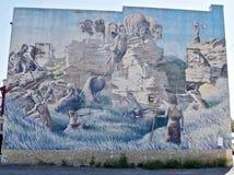 Head Smashed In Buffalo Jump Wall Mural, Southern Alberta, Canada Stock Photography