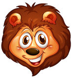 A head of a smiling lion Royalty Free Stock Images