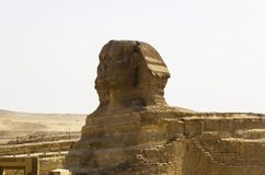 Head of the Sphinx in the background of the sky Stock Photo