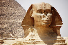 Head of the Sphinx in Giza, Egypt. Stock Image
