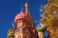 Head of St. Basil's Cathedral. At autumn, Moscow, Russia Stock Photography