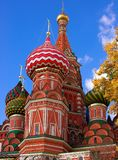 Head of St. Basil's Cathedral at autumn Stock Photo
