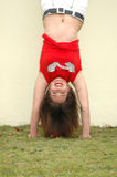 Head-stand girl Royalty Free Stock Photos