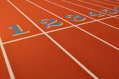 Head Start Running Track stock photography
